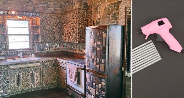 Более 30 лет художница создавала дом своей мечты. Все работы  выполняла своими руками с помощью натуральных материалов и обычного клеевого пистолета