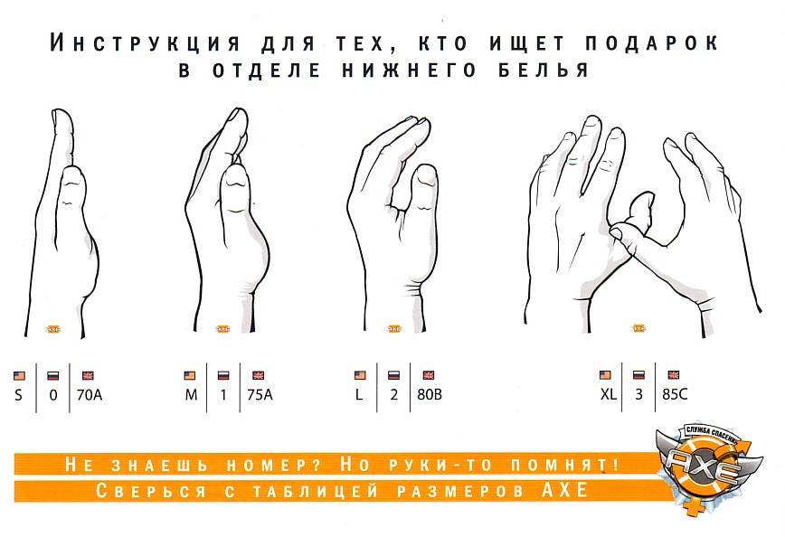 Инфографика: как быстро найти правильный размер бюстгальтера с помощью смежных размеров