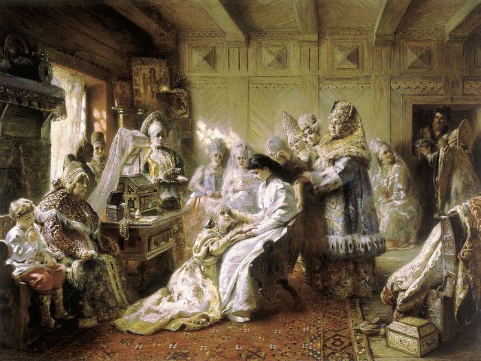 Под венец. Маковский К.Е., 1884 год.