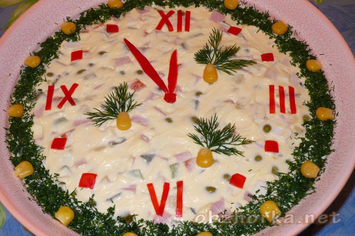 Салаты украшать на новый год
