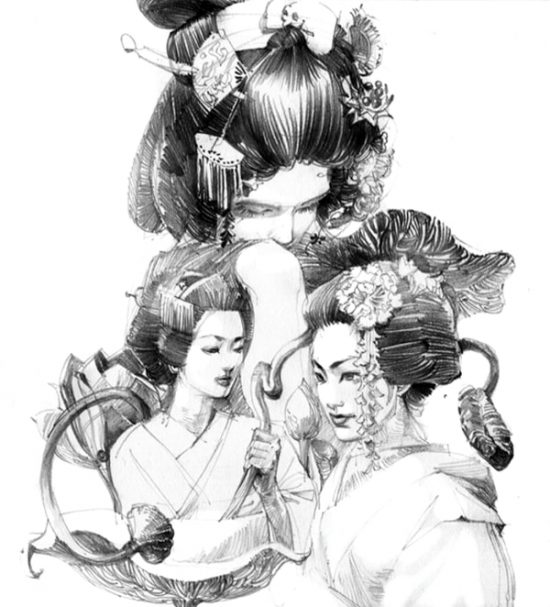 художник Zhang Weber графика – 08