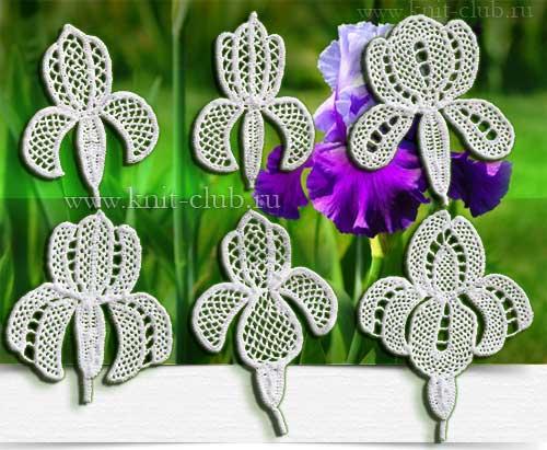 Ирландское кружево вязание цветка