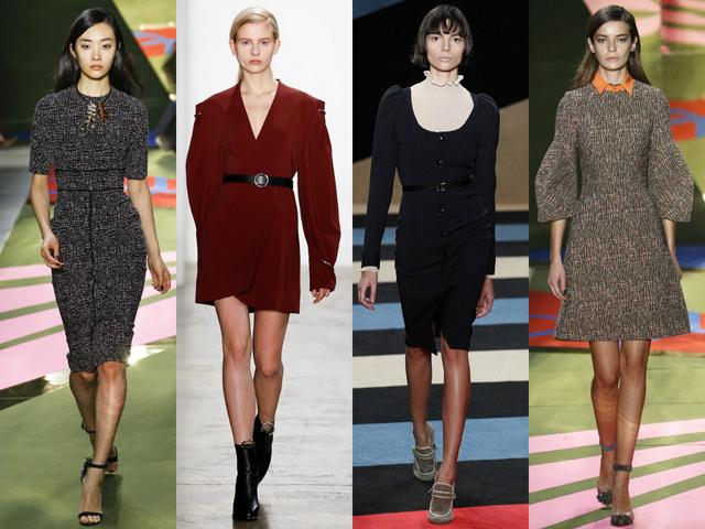 Модные деловые платья осень-зима 2016-2017
