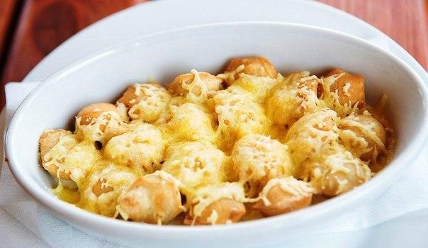 Новый вкус знакомого блюда - пельмени, запеченные с сыром!