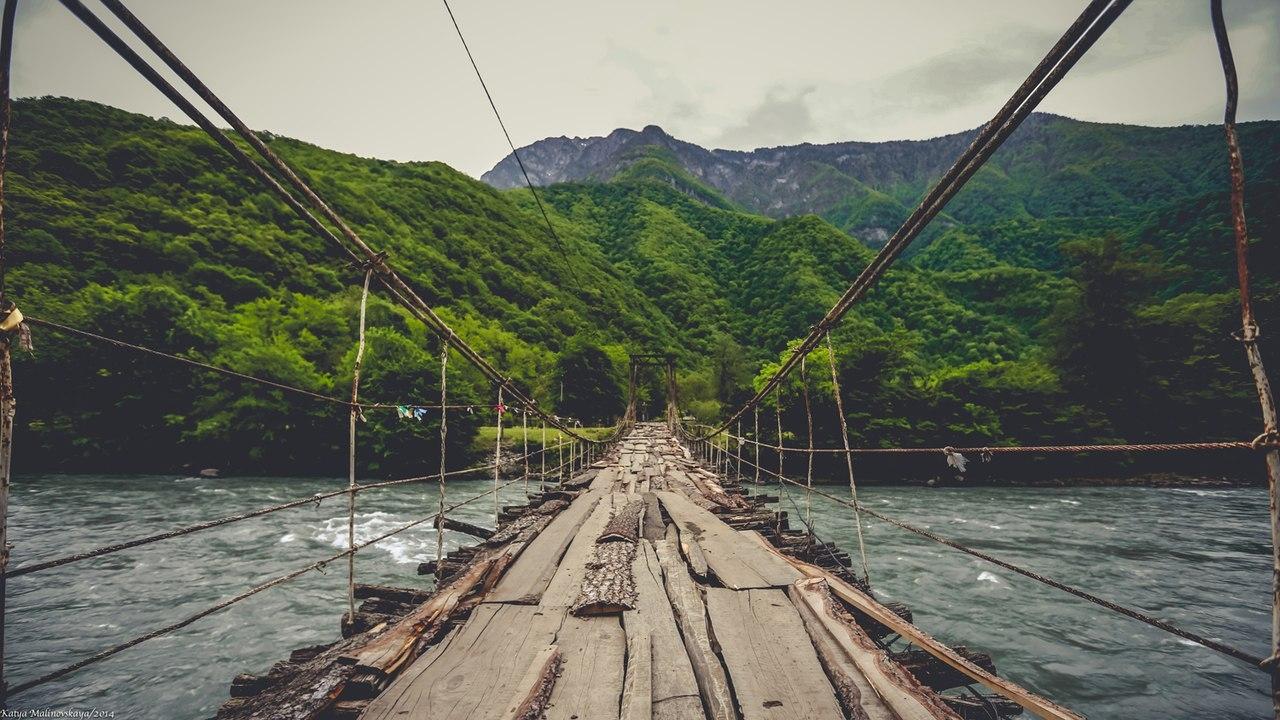 Абхазия. По дороге на озеро Рица