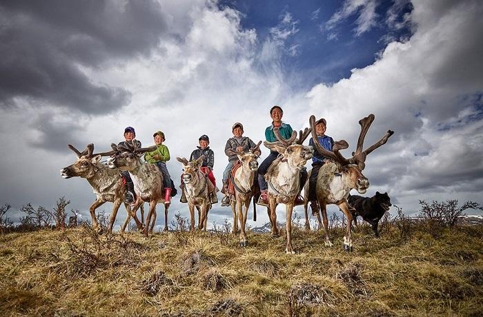 Монгольские дети. Фотограф: Питер Восс (Peter Voss), Германия.