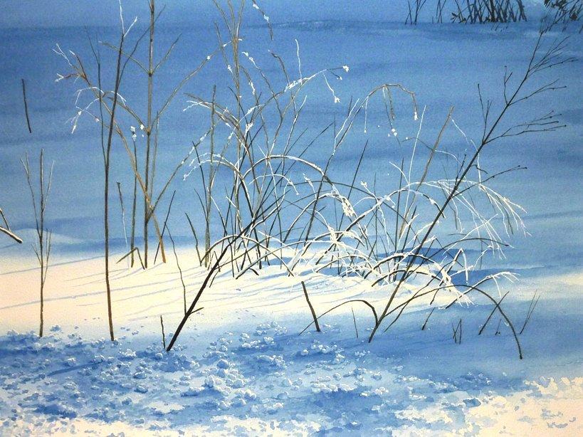 «Каким может быть снег, если его рисуют акварелью?»