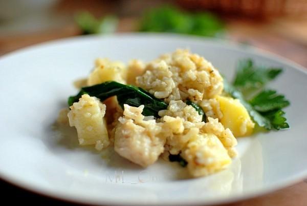 Рыбка с картофелем и рисом по словенскому рецепту.