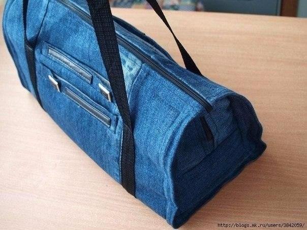 Джинсовая сумка из остатков (Diy)