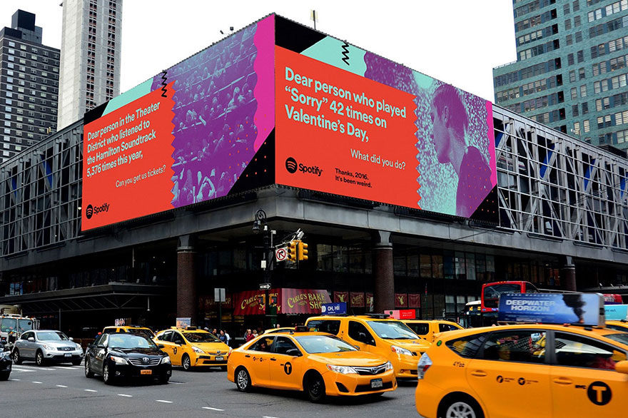 Spotify Reveals Its Users' Most Embarrassing Listening Habits On Giant Billboards
