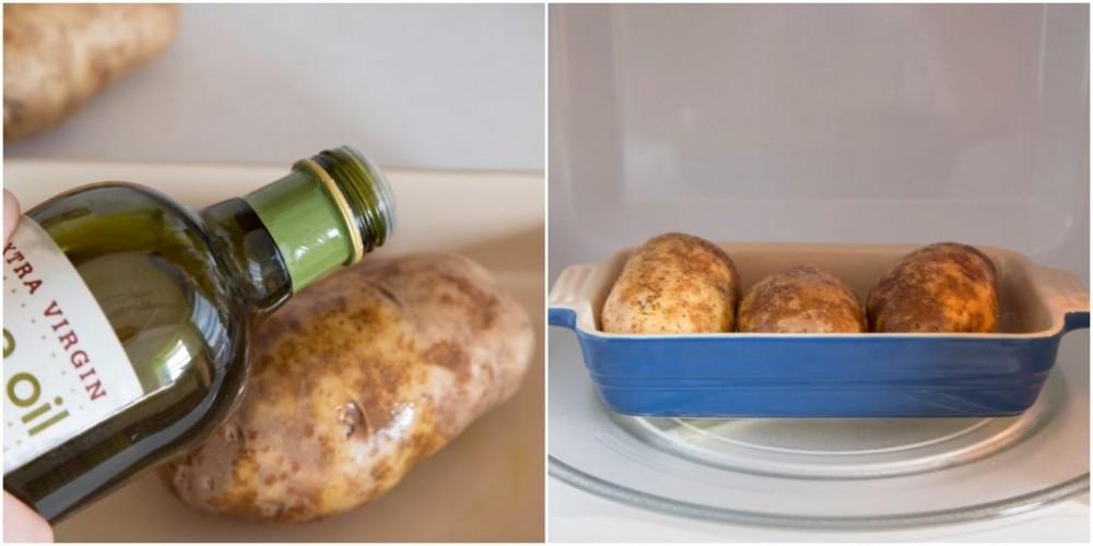 Легко и быстро. Запекаем картофель в микроволновке