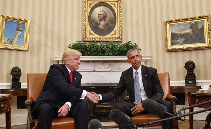 Обама в панике (Politiken, Дания)