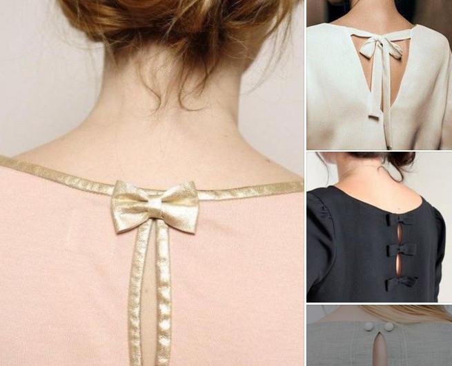 Как изящно оформить спинку платья или блузки: 30 шикарных идей... Уже знаю, что сошью себе к лету