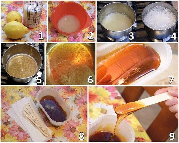 Как приготовить сахар для эпиляции самостоятельно