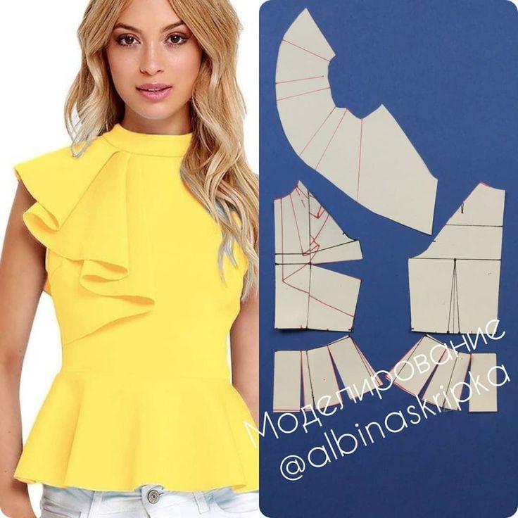 Платье с воланом или кофточка: моделирование 2