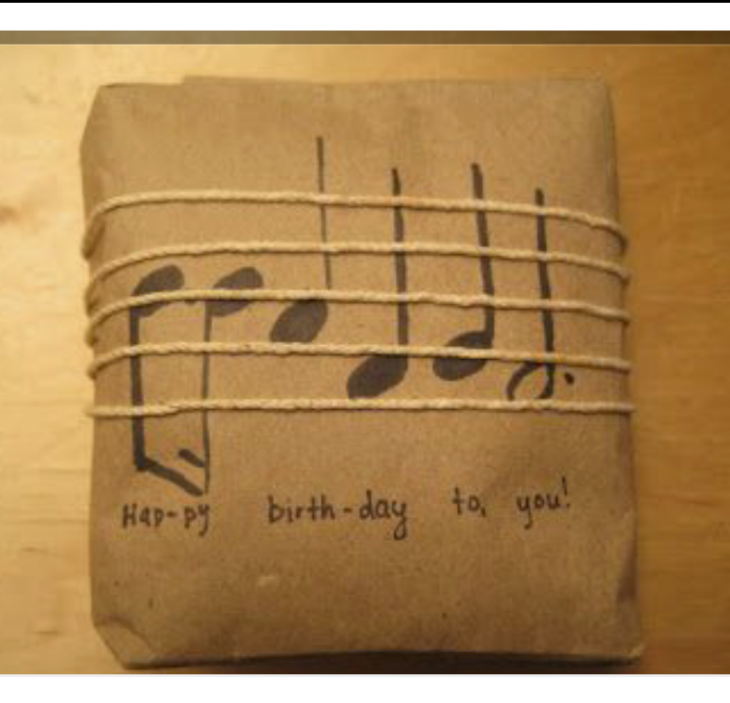 «Музыкальная» упаковка подарка