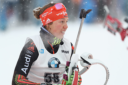 Немецкая биатлонистка Дальмайер выиграла индивидуальную гонку на этапе КМ