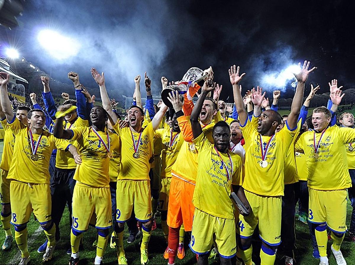 Клубы, для которых Кубок России – единственный трофей в российской истории