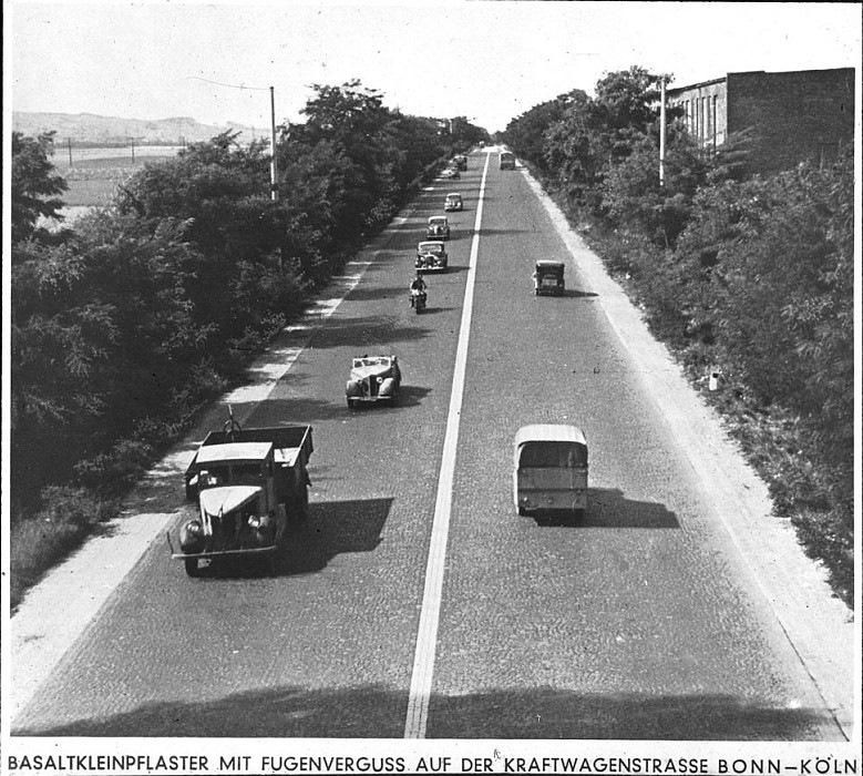 Кёльн-Бонн 1932 автобан, германия, дороги