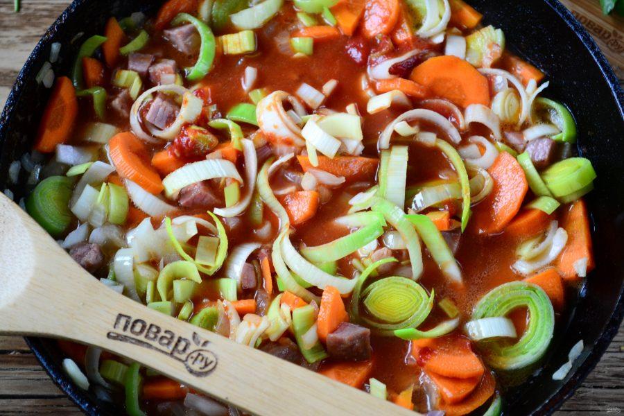 Приготовление говяжьего рагу с овощами