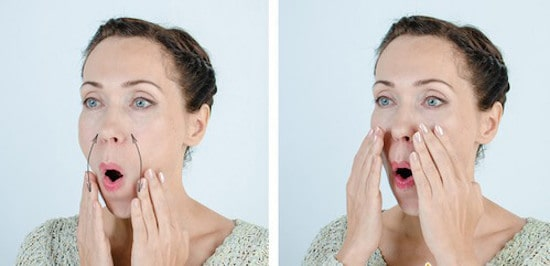 Упражнение «Ластик»: СТИРАЕМ носогубные складки «скорби» с лица!1