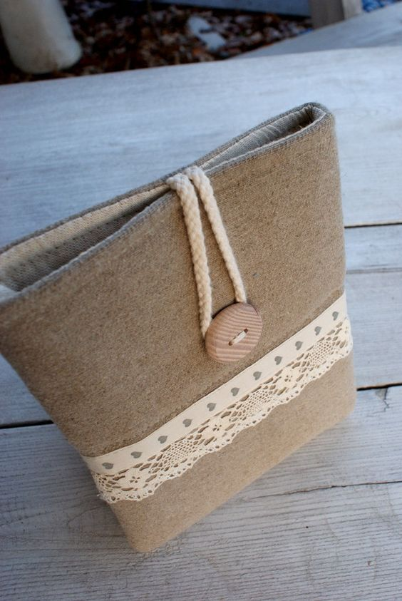 Apple iPad mini case/ linen. $24.00, via Etsy.: