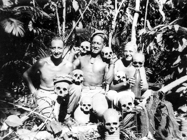 На Марианских островах янки отрезали головы у 60 процентов убитых японцев