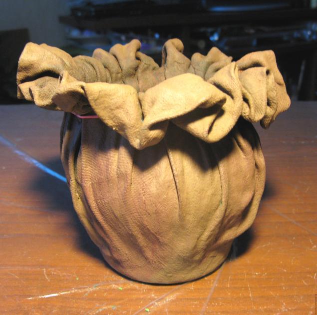 Кашпо-горшочек из ткани. Супер идея! Мастер-класс