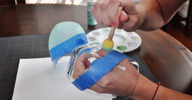 Декорируем стеклянную посуду