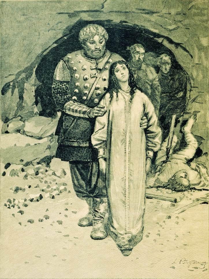 Андрей Рябушкин. «Добрыня Никитич». 1895. Иллюстрация к книге «Русские былинные богатыри».