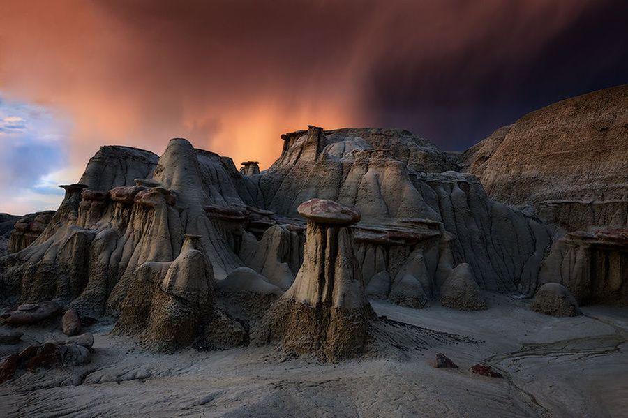 Марсианские пейзажи пустоши Бисти (Bisti Wilderness area)