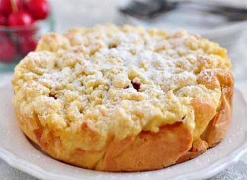 Рисово-молочная запеканка с яблоками