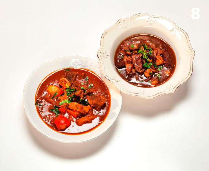 Принципы Лазерсона. Приготовление тушеных блюд с мясом (гуляш и мясо по-бургундски)