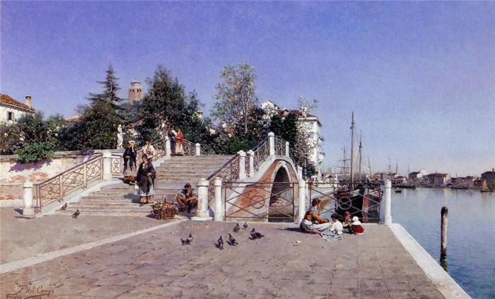 городские пейзажи художника Federico del Campo - 10