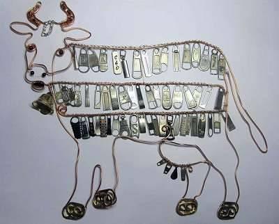 крейзи метал корова из проволоки и мелочей своими руками
