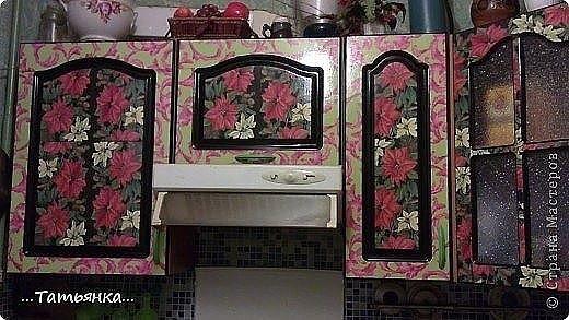 Декупаж кухонной мебели своими руками из салфеток