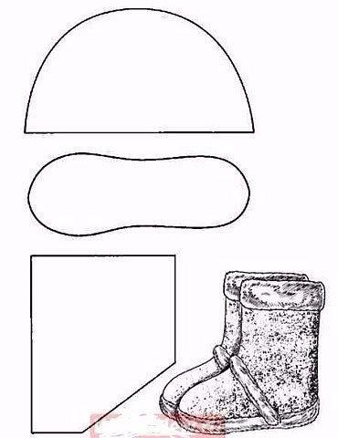 Уютные угги из старой дублёнки.Не выбрасывайте старую дублёнку! Из неё можно сшить уютные угги.