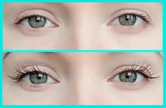 Видно, что особое внимание уделено ресницам на внешних уголках глаз
