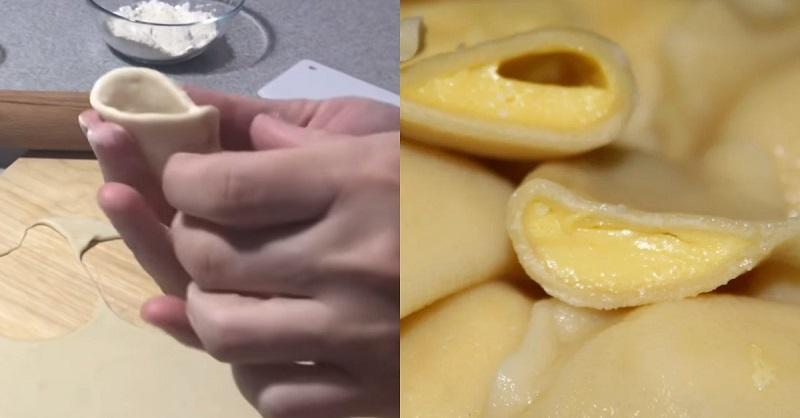 вареники с яйцом и сыром