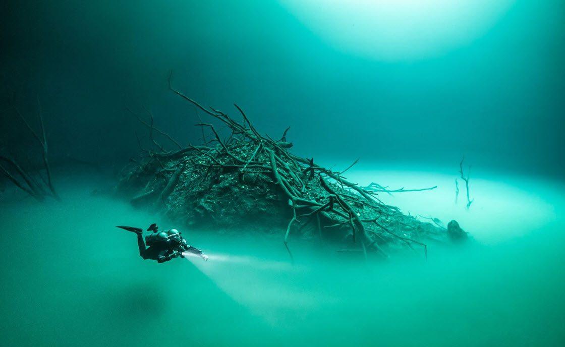 Река, протекающая под водой