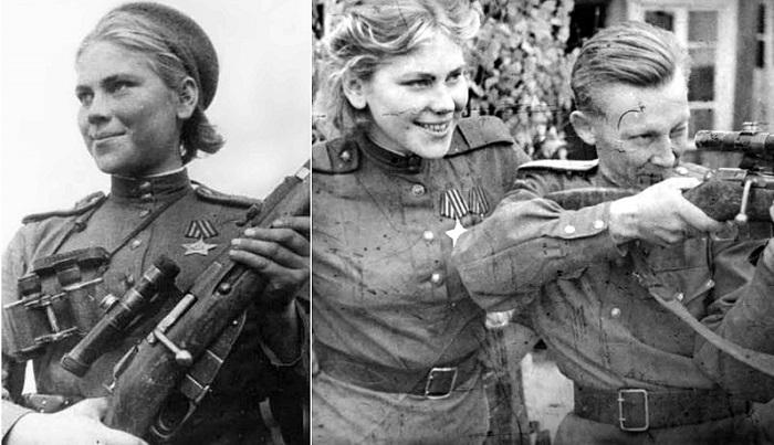 Женщина-снайпер Роза Шанина. | Фото: thevintagenews.com.