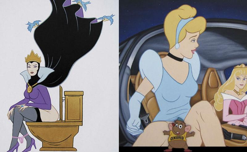 Провокационные иллюстрации персонажей Disney разрушат ваше детство