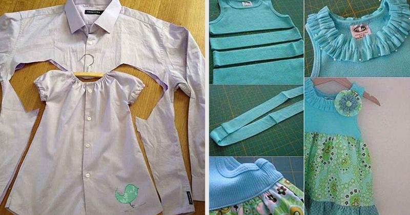 как сделать платье из мужской рубашки