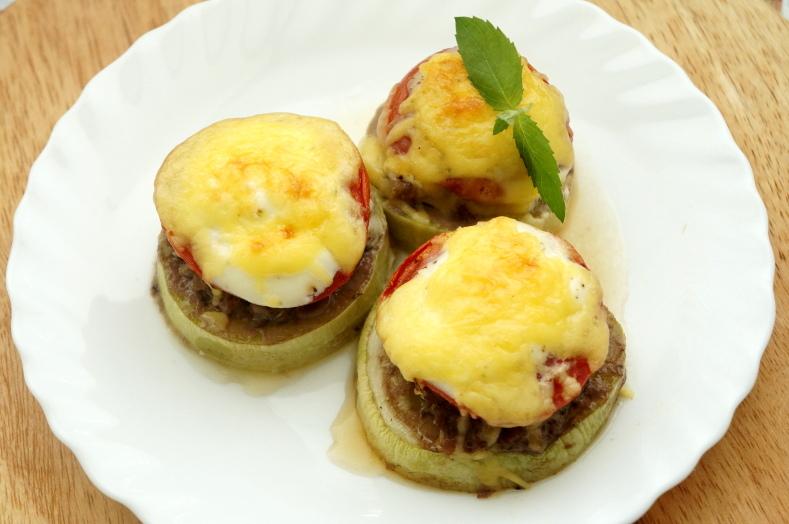 Рецепт кабачки запеченные с фаршем пошаговый кулинарный рецепт с фото