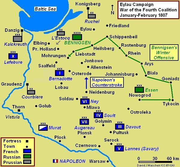 Начало кампании 1807 года. Сражение при Морунгене