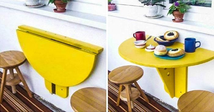 Удобный столик для балкона