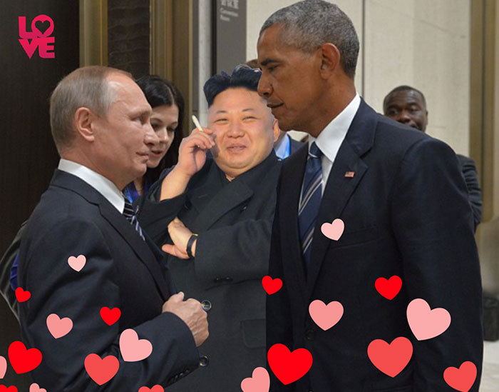Obama And Putin's Death Stare Gets Hilariously Trolled By Photoshoppers