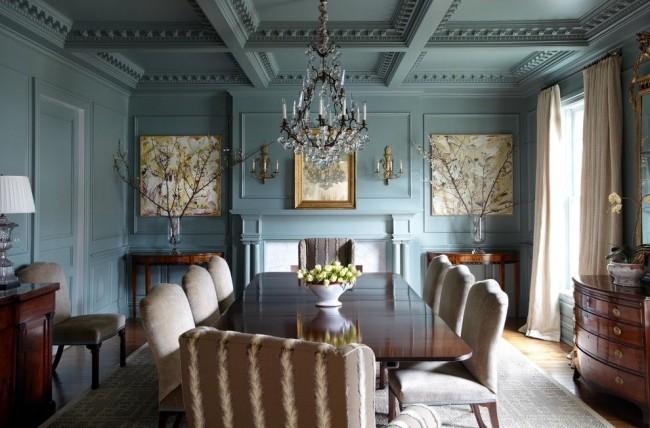 Шикарная столовая классического стиля