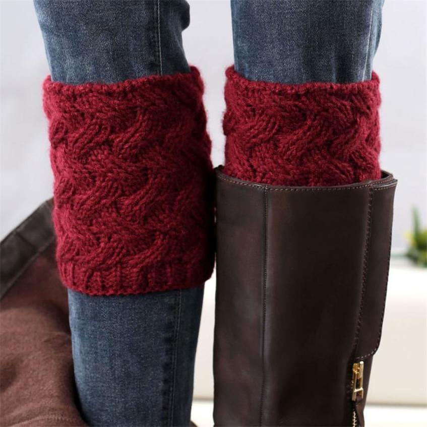 Гетры к зимней обуви спицами