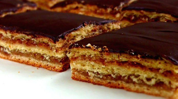 Сказочно красивый пирог «Жербо» с шоколадной глазурью и ароматом абрикосового варенья